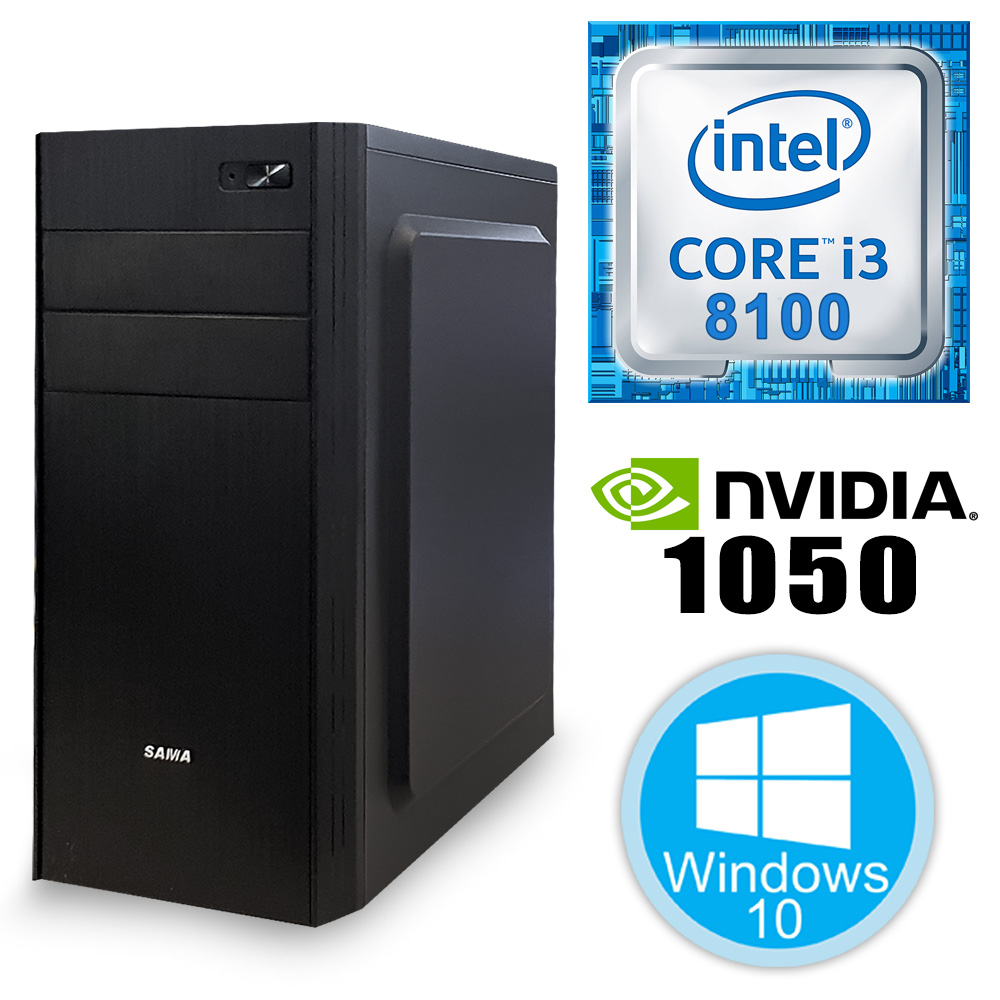 Desktop PC - i3-9100F\8GB\240GB\1050Ti-4GB