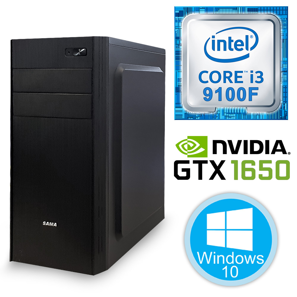 Desktop PC - i3-9100F\8GB\240GB\1650-4GB
