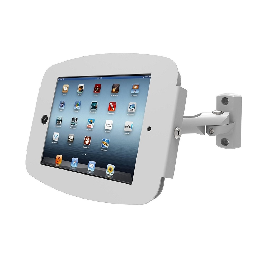 Maclocks Enclosure Stand With Swing Arm Wall Mount For Ipad 2/3/4 827W224SENW