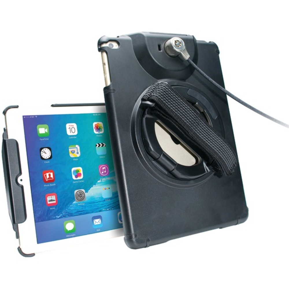 CTA Digital PAD-ACGA Antitheft Case with Built-in Grip Stand for iPad Air(R) 2/iPad Air(R)