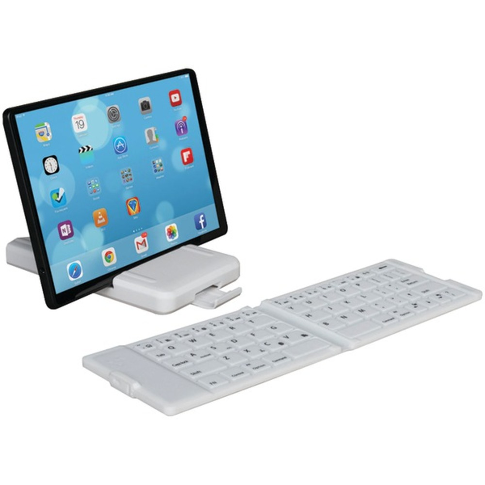 iwerkz(R) 44672 Waterproof Bluetooth(R) Folding Keyboard (White)