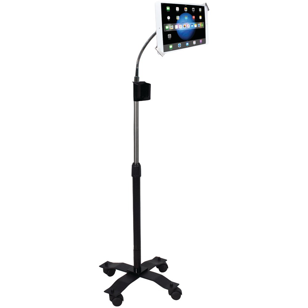Cta Digital Ipad And Tablet Compact Security Gooseneck Floor Stand With Lock-&-key Security System CTAPADSCGS