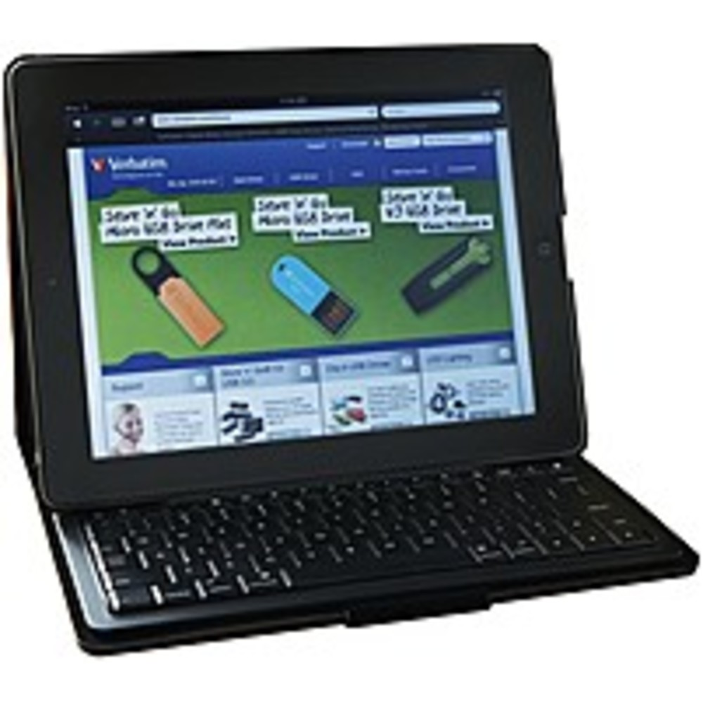 Verbatim 023942980216 Folio Slim Case with Keyboard for Apple iPad 2, 3, 4 - Bluetooth