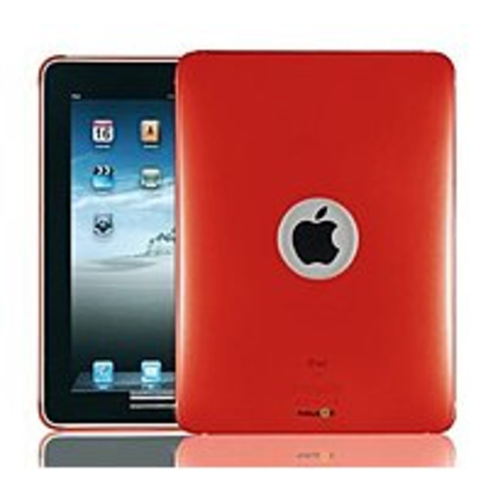NavJack NJ-J012-11 Clear Case with Screen Protector for iPad - Red