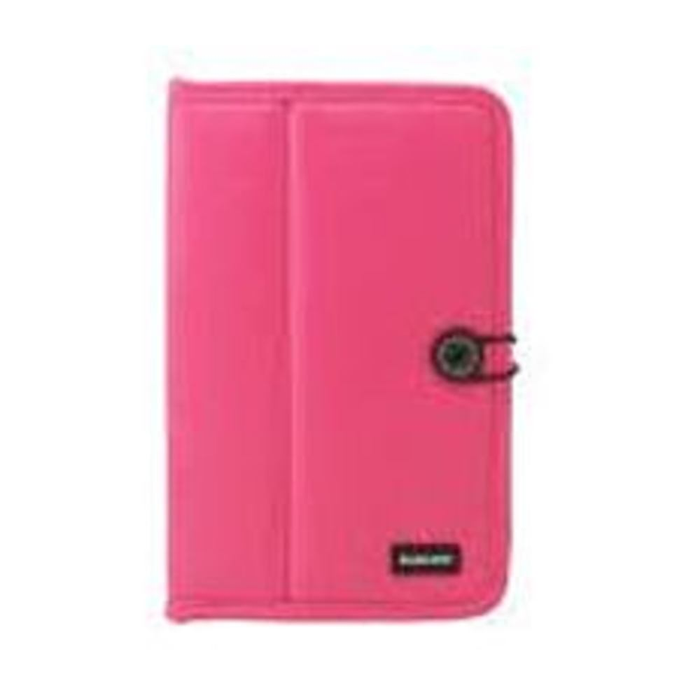 Wintec FileMate Eco 3FMTC220MG7-R C220 Faux Leather Case for 7-inch Samsung Galaxy Tablet - Loop and Button Closure - Magenta