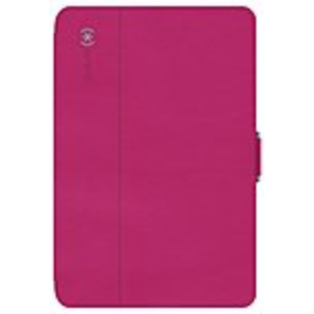 Speck Products 71805-B920 StyleFolio Carrying Case (Folio) for iPad mini 4 - Fuchsia Pink, Nickel Gray - Bump Resistant Interior, Drop Resistant Interior, Spill Resistant Interior, Scratch Resistant Interior - Vegan Leather