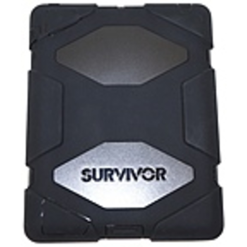 Griffin GB35108-3 Survivor All-Terrain for iPad 2, iPad 3, and iPad (4th gen) - iPad - Black - Polycarbonate/Silicone