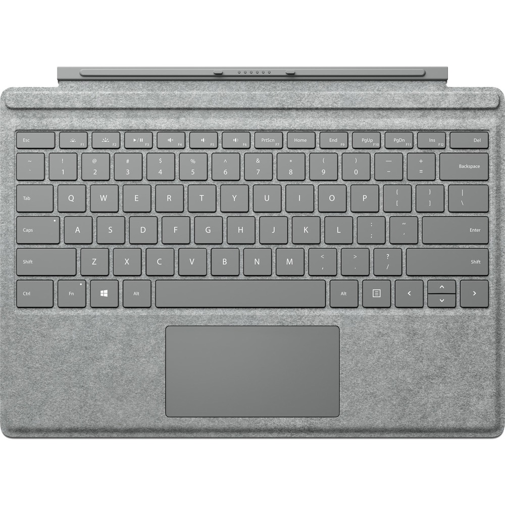 Microsoft Signature Type Cover Keyboard/Cover Case Tablet - Platinum - Stain Resistant - Alcantara - 0.2 Height x 11.6 Width x 8.5 Depth