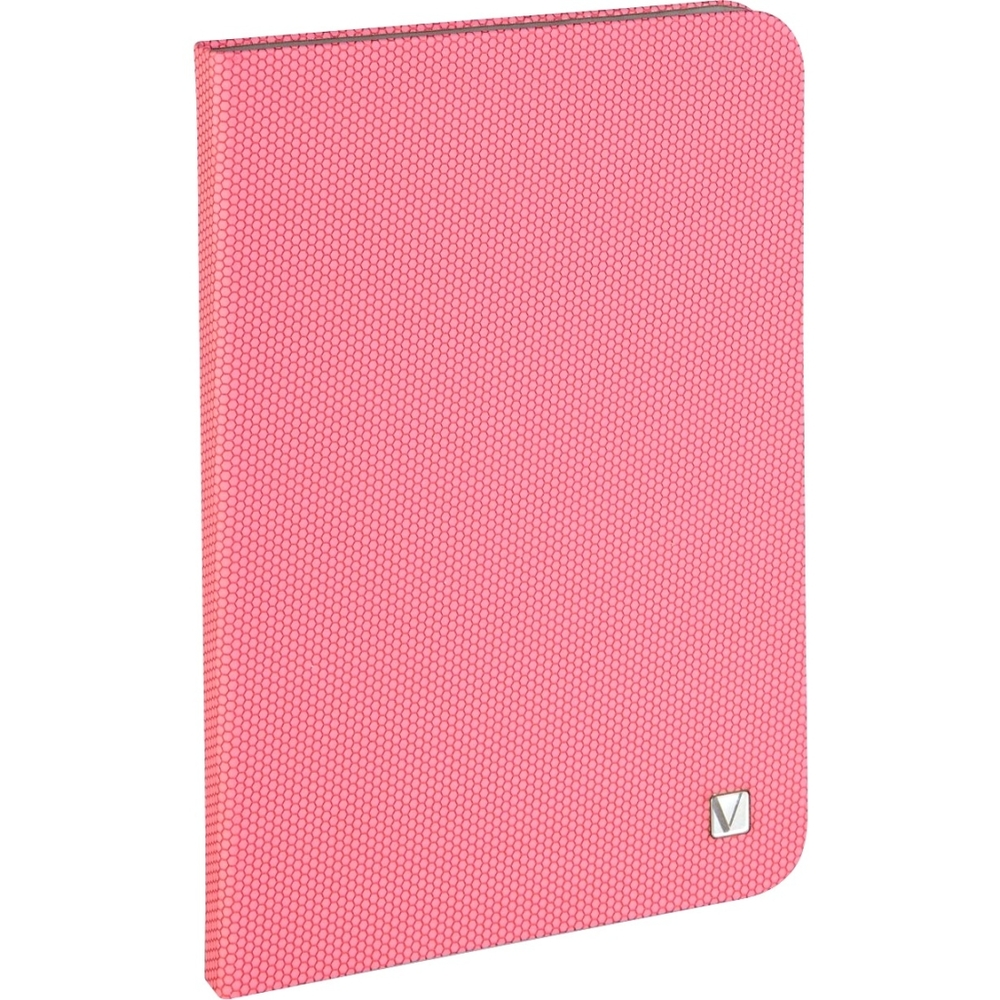 Verbatim Folio Hex Case for iPad mini (1,2,3) - Bubblegum Pink - Microsuede Interior - Textured - 8.3 Height x 5.7 Width x 0.5 Depth