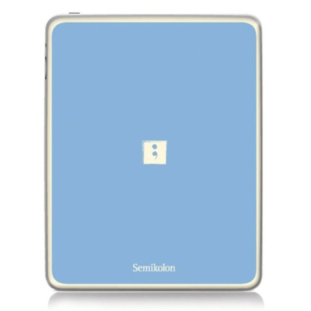Semikolon 9920009 Removable Skin for iPad 2 - Ciel Sky Blue