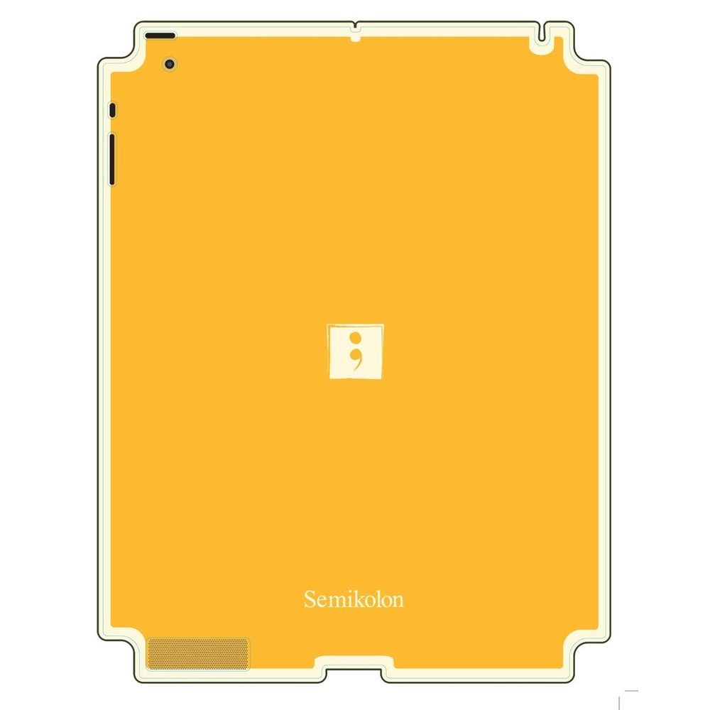 Semikolon 9930001 Removable Skin for iPad 2 - Sun Yellow