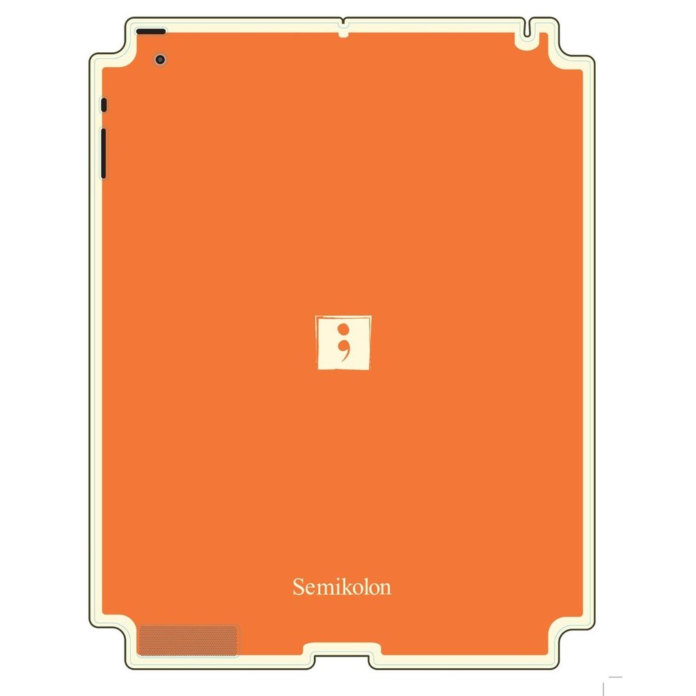 Semikolon 9930016 Removable Skin for Apple iPad 2 - Orange