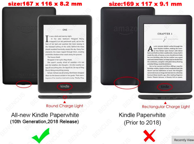Case cover for Amazon Kindle Paperwhite 2018 buy in Israel